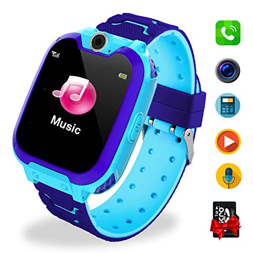 Bambini Game Smartwatch- Music Orologio Smart Phone con SIM Card Camera 7 tipi di giochi...