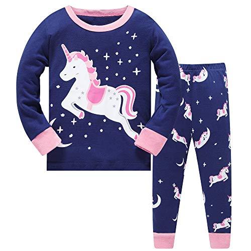 Ragazze Bambini Biancheria da Notte Natale Pigiama Unicorno Sleepwears Pigiami Due Pezzi...