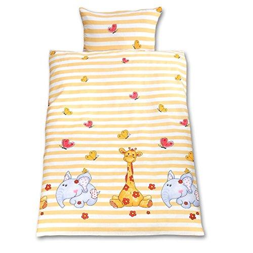 Gräfenstayn®, lenzuola per bambini, 2 pezzi, motivo con animali, chiusura lampo...