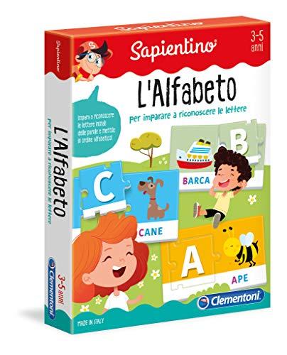 Clementoni- Sapientino-L'Alfabeto Tessere Illustrate, Multicolore, 12893