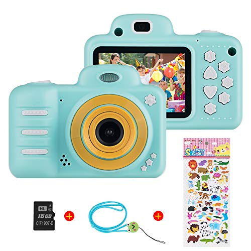 Vannico (16GB microSD) 1080P HD per Bambini Fotocamera Digitale, 800MP 2.4 Pollici Outdoor...