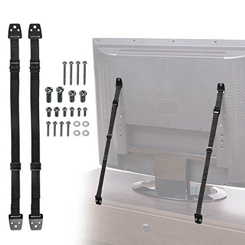 Cinghie antiribaltamento per TV e mobili - 2 pezzi (ciascuna da 20-92 cm) Cinghie TV...