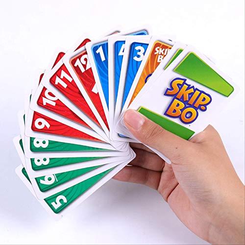 HSCDQ Uno Skip Bo Gioco di Carte Il Gioco di Carte Sequenziamento Family Party Gioco da...