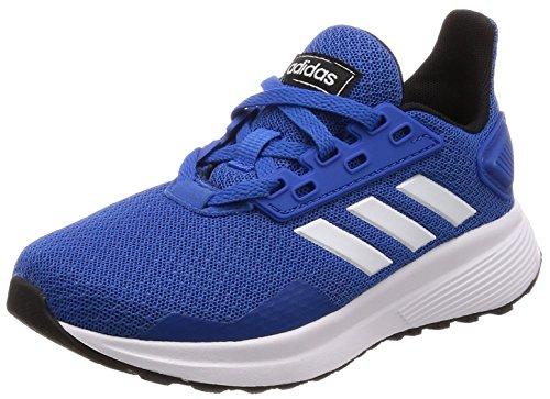 adidas Duramo 9, Scarpe Running Unisex-Bambini, Blu (Blue/Ftwwht/Cblack), 34 EU