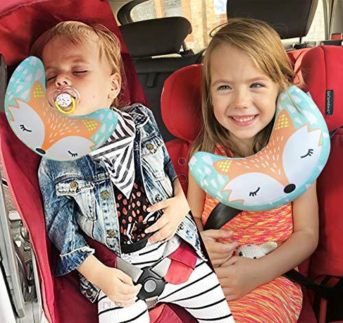 Brunoko Poggiatesta auto bambini - cuscino cervicale auto bambini + cuscino da viaggio...