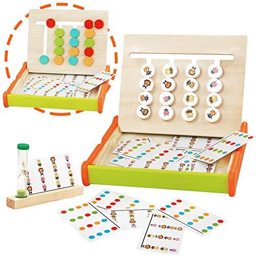 jerryvon Giochi Montessori in Legno Puzzle Bambini Logica Gioco Colore Animale...