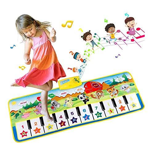 EXTSUD Tappeto Musicale Bambini Tastiera Pianoforte Musichette Giocattolo Educativo...