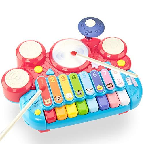 CubicFun 5 in 1 Set di Pianoforte Tamburo Giochi Bambini 1 Anno Giochi Musicali Tastiera...