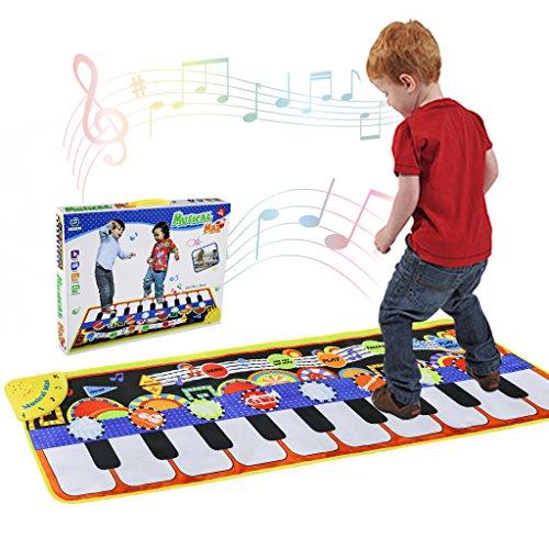 RenFox Tappeto Musicale, Piano Mat Tastiera Danza Stuoia Strumento Musicale 5 modalità e...