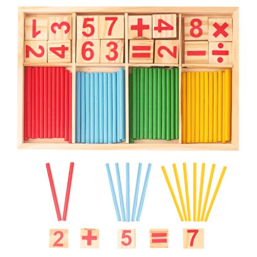 Giochi Montessori,Giocattoli Educativi Montessori,Set di Montessori Bastoncini in...