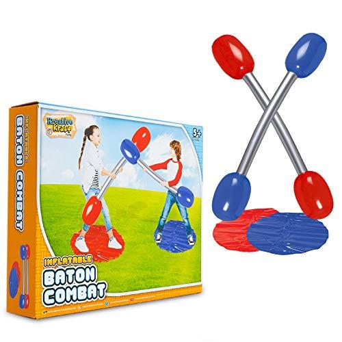 KreativeKraft Gioco da Giardino per Bambini - Gioco di Gladiatore Gonfiabile | Gioco da...