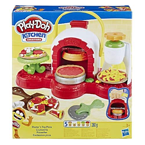 Hasbro Play-Doh Play-Doh-La Pizzeria (playset con 5 vasetti di pasta da modellare),...