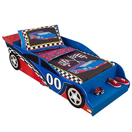 Kidkraft 76038 Race - Letto Junior con Telaio in Legno, A Forma di Auto da Corsa, per...