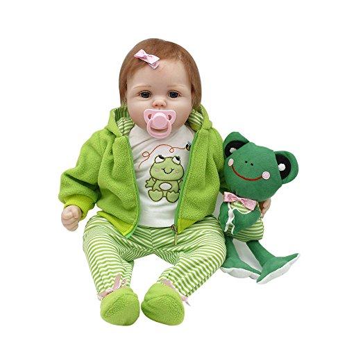 Decdeal Reborn Bambino 22in 55cm Reborn Baby Rebirth Doll Regalo per Bambini Corpo di...