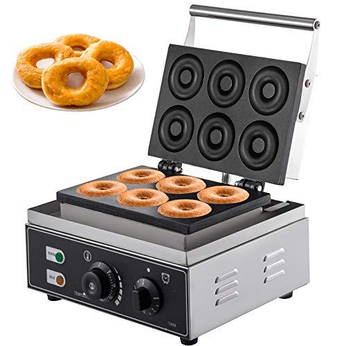 VEVOR Macchina per Donuts 1550W Macchina Donuts Commerciale 6 Cavità Macchina per...