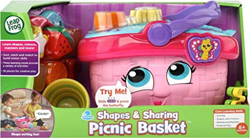 LeapFrog 603603 - Cestino da picnic educativo e interattivo, 16 pezzi, per giochi creativi...