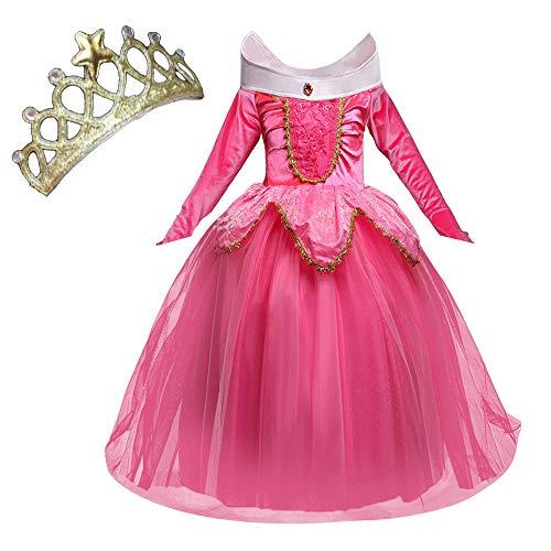 NNDOLL Aurora Principessa Vestito Sleeping Beauty Costume Bambina Carnevale Abito Partito...