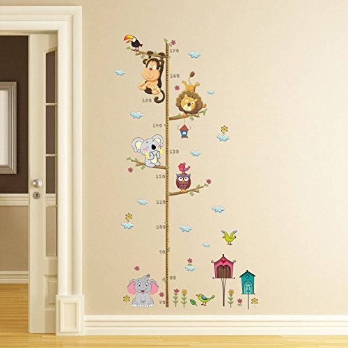 ElecMotive Metri da parete per bambini rimovibile misurare adesivi da parete per cameretta...