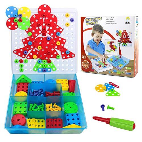 Giocattoli Bambina Puzzle 2D Bambini Costruzioni Giocattoli - 180 Pezzi con Cacciavite...