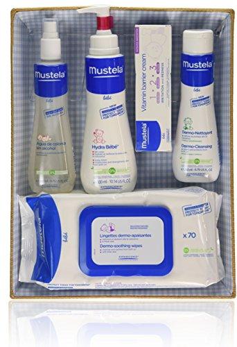 Mustela Bébé–1 Set di prodotti su cesto blu, composto da:Acqua di Colonia +...