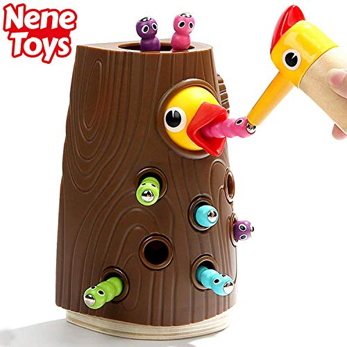 Nene Toys – Gioco Educativo per Bambini e Bambine di 2, 3 e 4 Anni – Picchio in Legno...