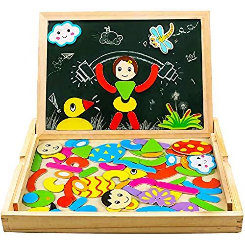 Yixin Magnetico Lavagna Puzzle di Legno Giochi Montessori Magnetica Lavagnetta a Double...