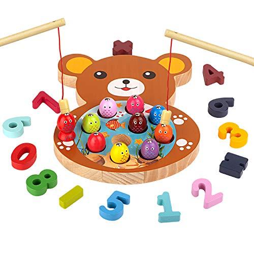 mysunny Giochi in Legno Pesca per Bambini, Gioco Montessori educativi Magnetica,...