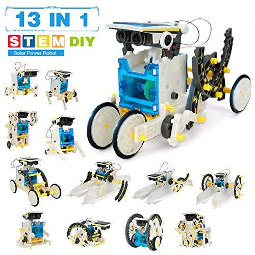 Pickwoo Regali per Ragazzi - Robot Giocattolo per Bambini - Robot Solare Educativi 13 in 1...