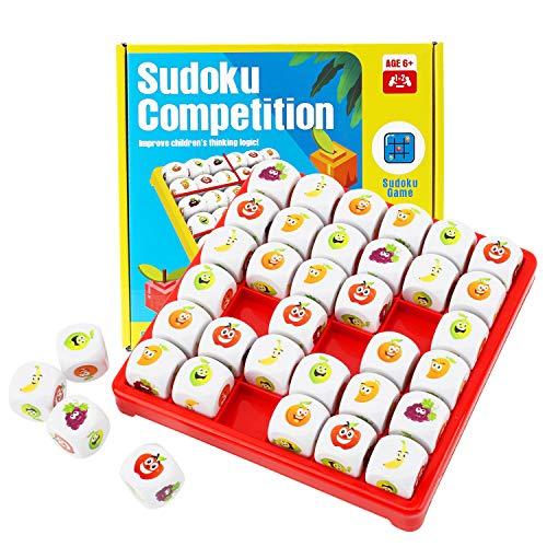 Herefun Gioco da Tavolo Sudoku alla Frutta, Sudoku Logico Giocattoli da Tavolo Puzzle...
