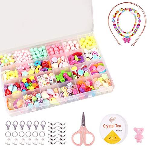 ZFYQ Bambini Perline, DIY Perline Differenti Multicolore di Arte dei Bambini con Scatola...