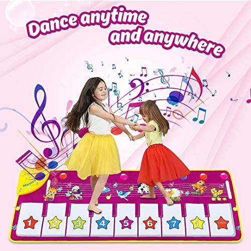 Dookey Tappeto Musicale Bambini, Tocca la Tastiera Pianoforte Musichette Giocattoli...
