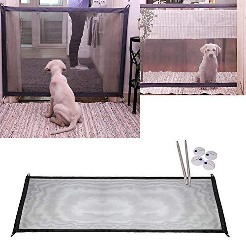 NiLeFo - Barriera di sicurezza per animali domestici, in rete, per cancello/scale/auto,...