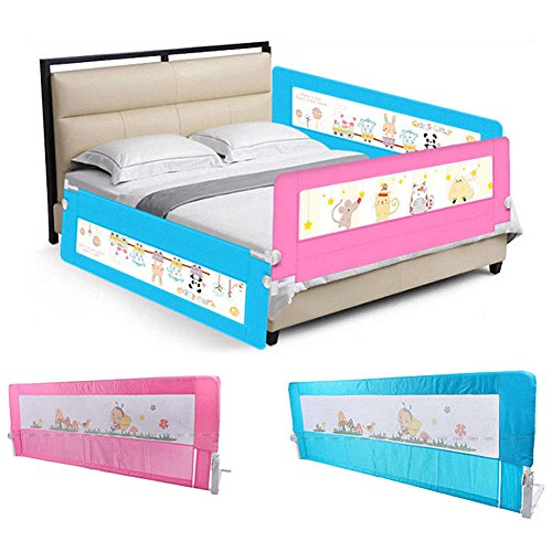 Barriera per letto bambini 150cm, sponda per letto bambini sbarra letto, Barriera di...