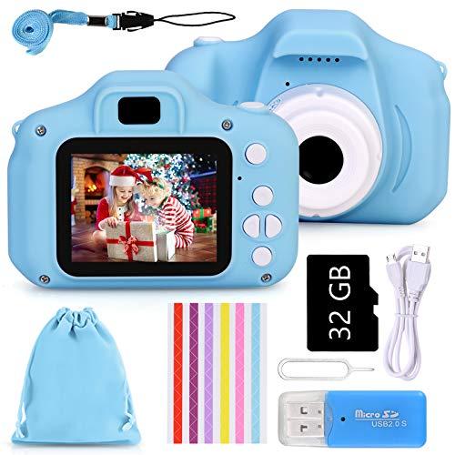 Faburo Macchina Digitale Bambini con Scheda SD 32 GB, Fotocamera Bambino Portatile Digital...