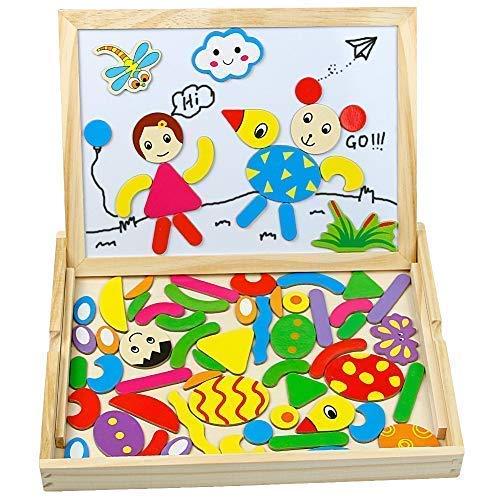 TONZE Puzzle Legno Magnetico Lavagna Magnetica Legno Giocattoli Animali Jigsaw Puzzle...