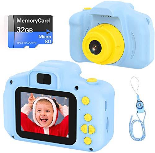 Fotocamera per Bambini Fotocamera Digitale Portatile con Scheda SD 32 GB TF Card HD da 2...