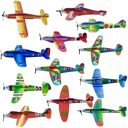 THE TWIDDLERS 48 Alianti Volanti Aeroplani per Bambini| Facile da Montare e Resistente|...
