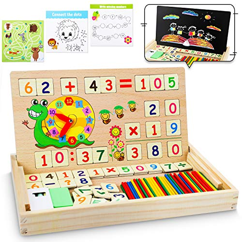 lenbest Set di Giochi Montessori in Legno Magnetico, Giocattoli Giochi Montessori...