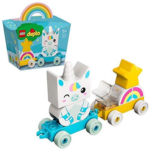 LEGO Duplo Trenino Unicorno, Costruzioni per Bambini 1.5 Anni con 2 Stelle, Arcobaleno e 2...