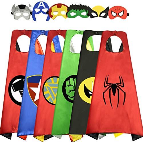 Costumi da Supereroi per Bambini Costumi Carnevale Mantelli e Maschere Giocattoli per...