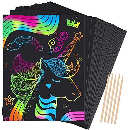 Dreamingbox Bambini 3-9 Anni Giocattolim, Scratch Art Bambini Regali di Natale Bambino 3-9...
