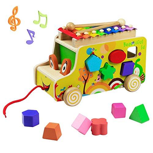 yoptote Giochi Montessori 1 2 3 Anno Xilofono Bambini Giochi in Legno Strumenti Musicali...