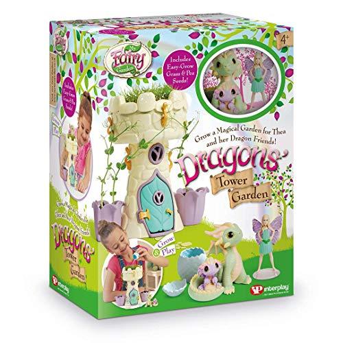My Fairy Garden- Dragon's Tower Garden Dollhouse Bambole & Accessori, Multicolore, FG408