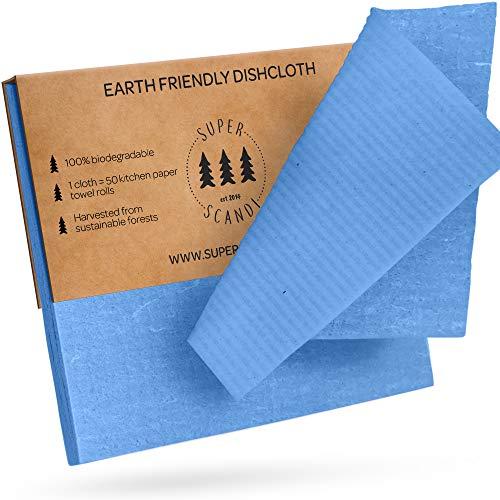 SUPERSCANDI Strofinacci svedesi ecologici, riutilizzabili, sostenibili, biodegradabili, in...