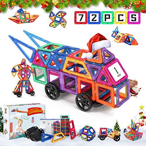 Fansteck Mattoncini magnetici, giocattoli magnetici 3D per bambini, blocchi magnetici...