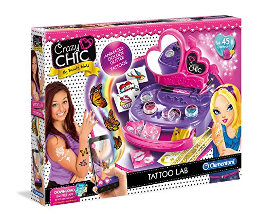 Clementoni - 15316 - Crazy Chic - Il Laboratorio dei Tatuaggi - gioco creativo per...