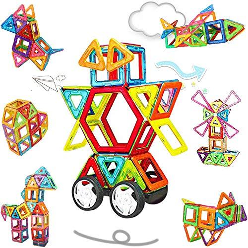 NextX Blocchi Magnetici Giocattolo - Set Di 46 Pezzi per Costruzioni 3D - Puzzle Educativo...
