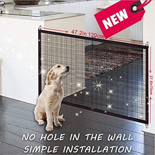 Magic Gate, Cancelletto per la sicurezza degli animali, portatile pieghevole, da...