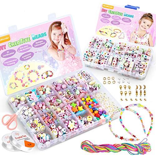 WinWonder Bambini Perline,1150 PCS Perline Colorate dei Bambini Fare Gioielli Braccialetti...