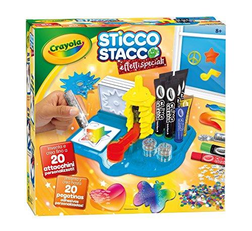 Crayola- Sticco Stacco Effetti Speciali Set per Creare Attacchini in Gel, 6 - 12 anni,...